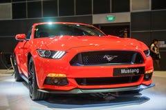 Produkteinführung von Ford Mustang im Singapur Motorshow 2015 lizenzfreies stockfoto