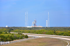 Produkteinführungs-Komplex in Kennedy Space Center stockfotos