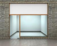 produkten för presentationen eps10 för designen shoppar den tomma ytterfrämre dina lagerfönster Arkivfoton