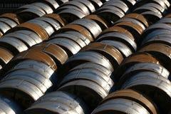 Produkter av den Zaporizhstal stålväxten i Odessa, Ukraina royaltyfria foton