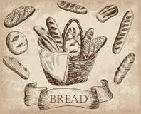 produkter för bageridesignbild Arkivbild