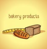 produkter för bageridesignbild Arkivfoto