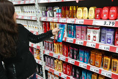 Produkter för håromsorg Fotografering för Bildbyråer