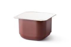 produkter för plast- för chokladbehållaremejeri Royaltyfria Foton