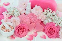 Produkter för skönhetbehandlingbrunnsort Royaltyfri Foto