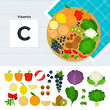 Produkter med vitamin C Royaltyfri Fotografi