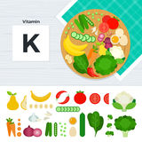 Produkter med vitamin K Royaltyfri Foto