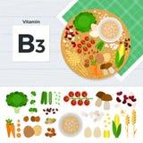 Produkter med vitaminet B3 Royaltyfri Fotografi