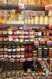 Produkter på hylla Royaltyfri Foto