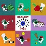 Produkterna är användbara för ögonhälsa Royaltyfria Foton