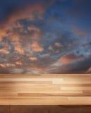 Produktfotoschablone Abend-Himmel Stockfoto