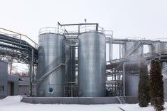 Produktion av den specialiserade fett- och för mattillsatser industrianläggningen royaltyfri foto