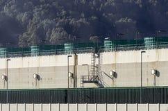 Produktion av elektricitet, bestämt av den centrala gasen Arkivbilder