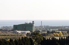 Produktion av elektricitet, kraftverk till naturgas Royaltyfri Fotografi
