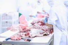Produktion av meat- och korvspecialties Royaltyfri Foto