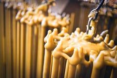 Produktion av stearinljus arkivfoto