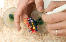 produktion av tand- implantat Arkivfoto