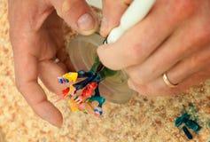 produktion av tand- implantat Arkivfoton