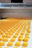 Produktion der Biskuite lizenzfreie stockfotografie