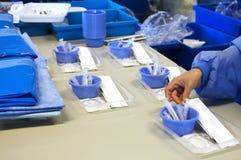 Produktion der medizinischen Sets lizenzfreie stockbilder