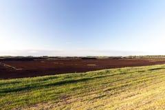Produktion der Torflandschaft Lizenzfreies Stockbild