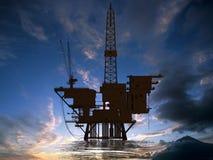 Produktion des Erdöls lizenzfreie stockbilder
