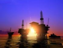 Produktion des Erdöls Stockbild