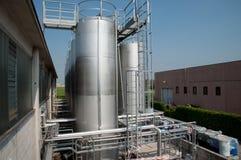Produktion des industriellen Schmieröls Lizenzfreies Stockfoto