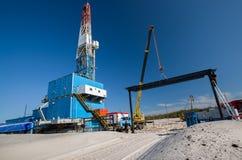 produktion för gasolja Arkivbild