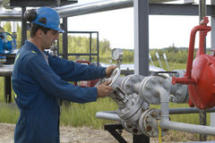 produktion för gasoperatör Royaltyfri Bild