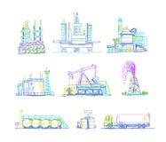 Produktion lagring av olje- trans.teckningar Royaltyfri Foto