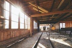Produktion på sågverket arkivbild