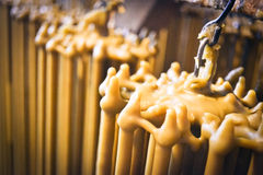 Produktion von Kerzen Stockfoto