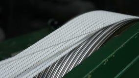 Produktion von Seilen Bündel Seile stock footage