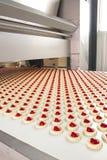 Produktionkaka i fabrik Arkivbild