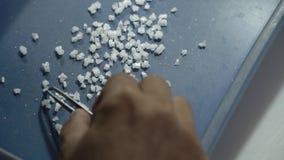 Produktions-kristallenes Seesalz stock video