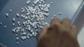 Produktions-kristallenes Seesalz stock footage