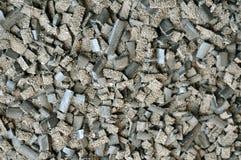 Produktionsabfall: verbrauchter Fluss bei der Herstellung von geschweißten Produkten lizenzfreie stockbilder