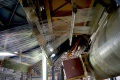 Produktionsanläggning för rör för fiberexponeringsglas Royaltyfri Bild