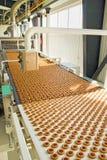 Produktionsplätzchen in der Fabrik Stockbild