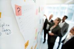 Produktive Projekt-Diskussion über Kollegen stockbilder