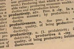 Produktivität - Geschäftswort stockbilder