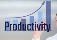 Produktivität mit Balkendiagramm Stockfotos