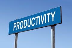 Produktivität Signpost Stockfoto