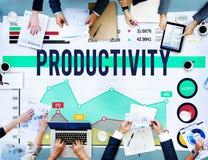 Produktivitetseffektivitet figurerar arbetsflödesbegrepp royaltyfri fotografi