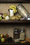 Produktu bogactwo powikłani węglowodany Foods Wysocy w węglowodanach Zdrowej diety łasowania pojęcie Szybcy i wolni węglowodany zdjęcie royalty free