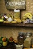 Produktu bogactwo powikłani węglowodany Foods Wysocy w węglowodanach Zdrowej diety łasowania pojęcie Szybcy i wolni węglowodany fotografia stock