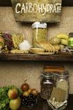 Produktu bogactwo powikłani węglowodany Foods Wysocy w węglowodanach Zdrowej diety łasowania pojęcie Szybcy i wolni węglowodany zdjęcia stock