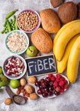 Produkty bogaci w włóknie dietetyczne jedzenie zdrowe zdjęcia stock