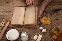 Produkty dla przygotowania ciasto dla piec lub Fotografia Stock